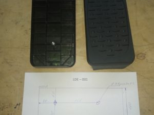 педали для эллиптического тренажера LDE001
